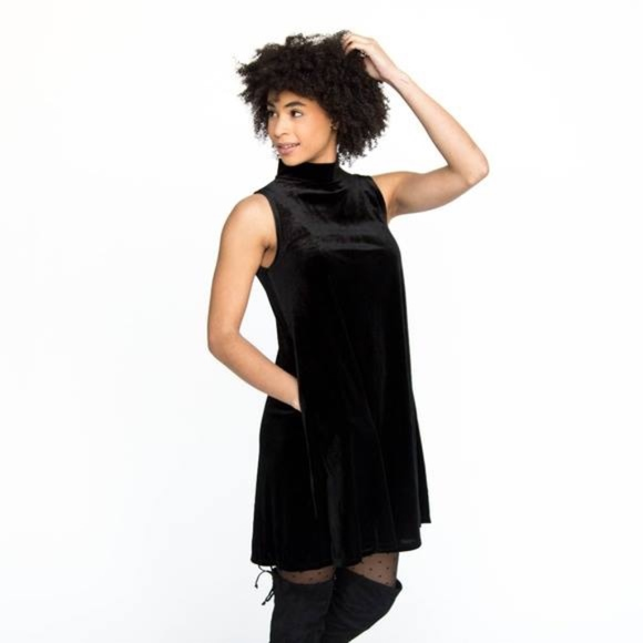 7f86194327 Agnes & Dora Dresses | Mock Neck Velvet Swing Tank | Poshmark
